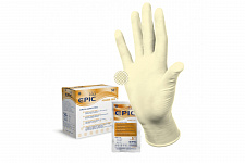 Перчатки стерильные Epic SG PF хирургические латексные неопудренные (1 пара), Heliomed - купить с доставкой в интернет-магазине Лавка Дантиста